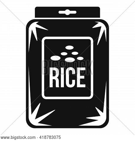 Rice Pack Icon. Simple Illustration Of Rice Pack Vector Icon For Web Design Isolated On White Backgr