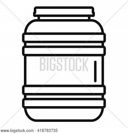 Plastic Barrel Icon. Outline Plastic Barrel Vector Icon For Web Design Isolated On White Background