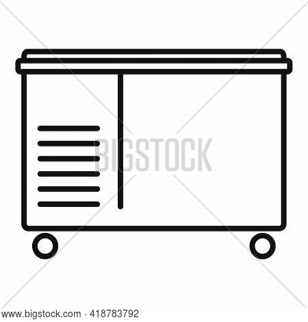 Food Freezer Icon. Outline Food Freezer Vector Icon For Web Design Isolated On White Background