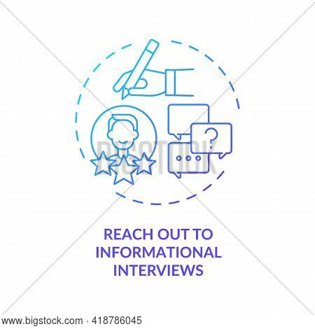Reach Out To Informational Interviews Concept Icon. Change Career Tip Thin Line Illustration. Find N