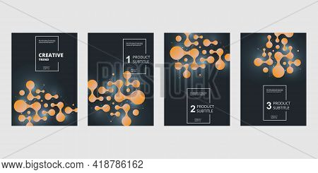 Abstract Connect Circle Geometric In Trendy Style. Trendy Geometric Background. Business Technology