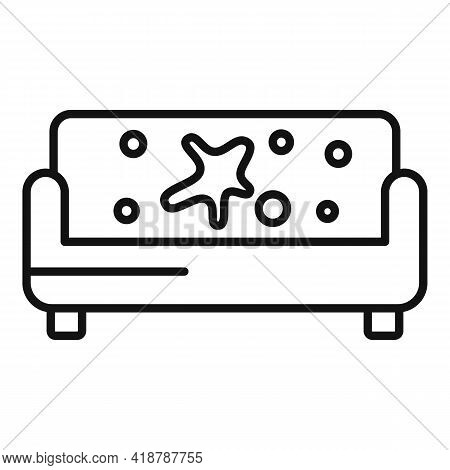 Sofa Dry Cleaning Icon. Outline Sofa Dry Cleaning Vector Icon For Web Design Isolated On White Backg