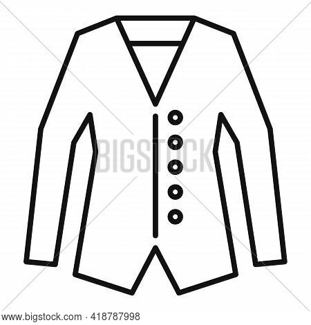 Jacket Dry Cleaning Icon. Outline Jacket Dry Cleaning Vector Icon For Web Design Isolated On White B