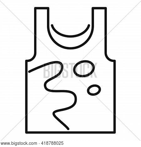 Dirt Vest Icon. Outline Dirt Vest Vector Icon For Web Design Isolated On White Background