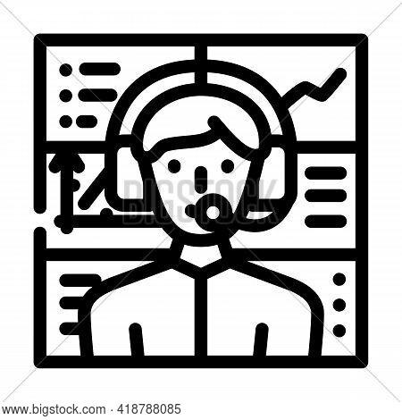 Broker Wholesale Line Icon Vector. Broker Wholesale Sign. Isolated Contour Symbol Black Illustration