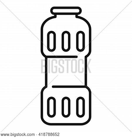 Clean Powder Bottle Icon. Outline Clean Powder Bottle Vector Icon For Web Design Isolated On White B