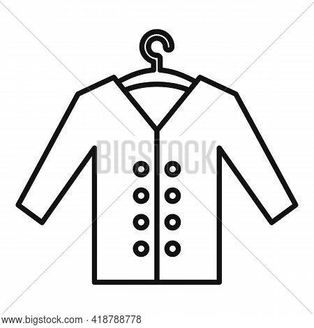 Clean Jacket Icon. Outline Clean Jacket Vector Icon For Web Design Isolated On White Background