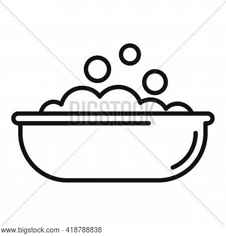Wash Bubble Basin Icon. Outline Wash Bubble Basin Vector Icon For Web Design Isolated On White Backg