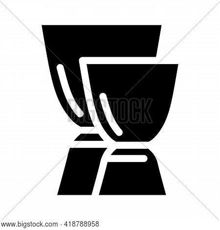 Jiggers Bartender Glyph Icon Vector. Jiggers Bartender Sign. Isolated Contour Symbol Black Illustrat