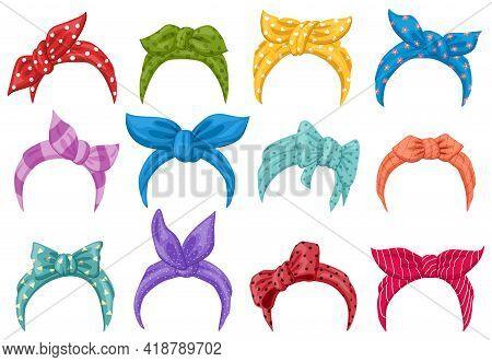 Cartoon Retro Headband Bandanas. Women Retro Head Bandana, Fashion Lady Dressing Headbands. Hairstyl