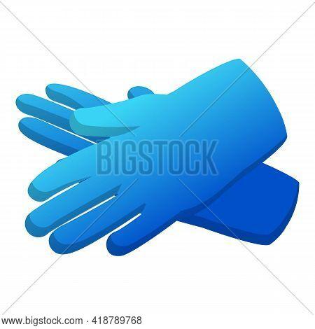 Garden Gloves Tool Icon. Cartoon Of Garden Gloves Tool Vector Icon For Web Design Isolated On White
