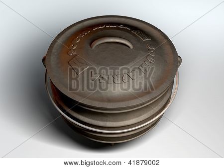 South African Potjie Pot Top