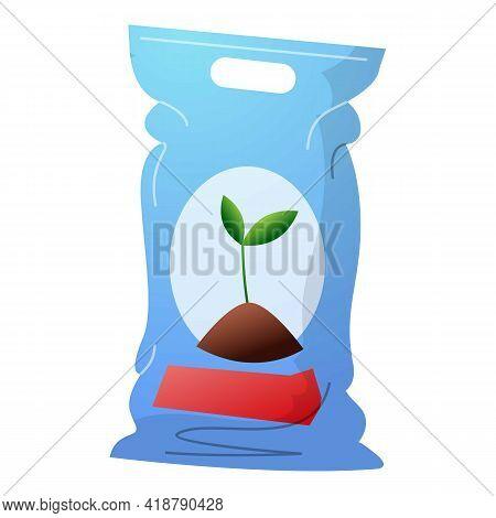 Plant Soil Sack Icon. Cartoon Of Plant Soil Sack Vector Icon For Web Design Isolated On White Backgr