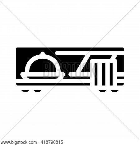 Wagon Restaurant Glyph Icon Vector. Wagon Restaurant Sign. Isolated Contour Symbol Black Illustratio