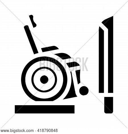 Ramp To Train Glyph Icon Vector. Ramp To Train Sign. Isolated Contour Symbol Black Illustration