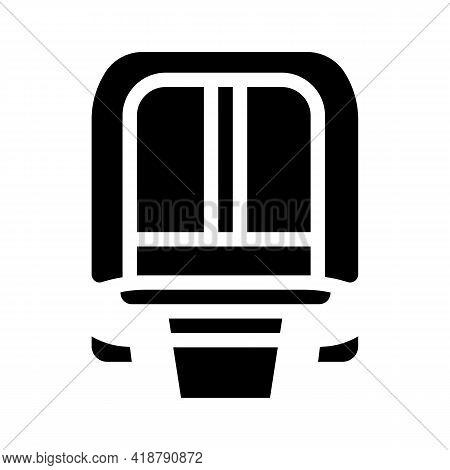 Maglev Modern Train Railway Glyph Icon Vector. Maglev Modern Train Railway Sign. Isolated Contour Sy