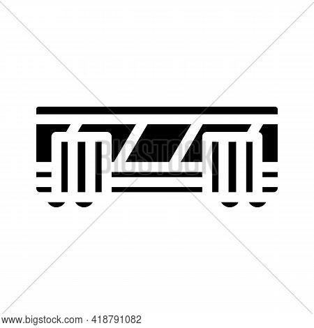 Railway Carriage Glyph Icon Vector. Railway Carriage Sign. Isolated Contour Symbol Black Illustratio