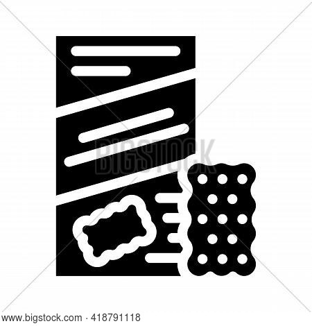 Cookies Snack Glyph Icon Vector. Cookies Snack Sign. Isolated Contour Symbol Black Illustration