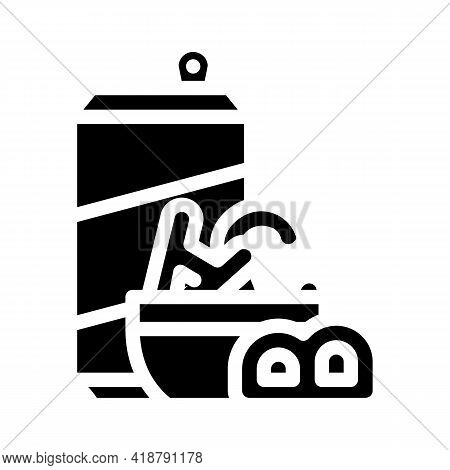 Letter Shaped Cookies Snack Glyph Icon Vector. Letter Shaped Cookies Snack Sign. Isolated Contour Sy