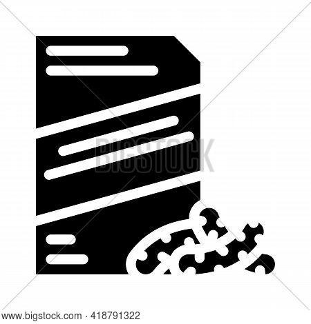 Corn Sticks Snack Glyph Icon Vector. Corn Sticks Snack Sign. Isolated Contour Symbol Black Illustrat