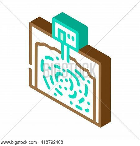 Underground Storage Bacteria Biogas Isometric Icon Vector. Underground Storage Bacteria Biogas Sign.