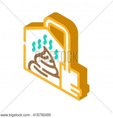 Method Of Obtaining From Feces Biogas Isometric Icon Vector. Method Of Obtaining From Feces Biogas S
