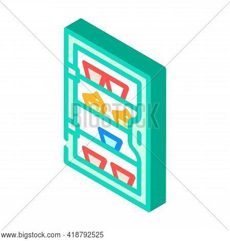 Cakes Showcase Isometric Icon Vector. Cakes Showcase Sign. Isolated Symbol Illustration