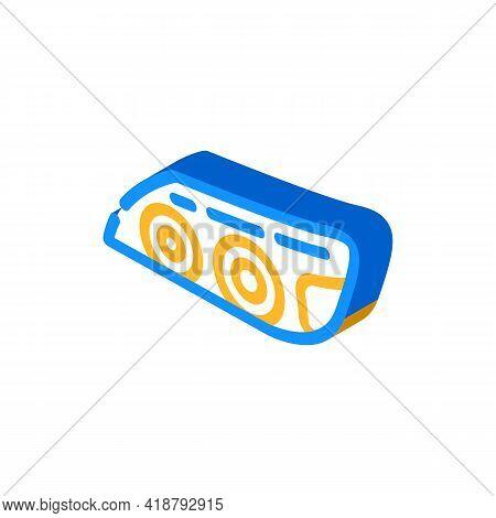Headlight Car Isometric Icon Vector. Headlight Car Sign. Isolated Symbol Illustration
