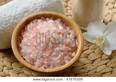 Pink Salt From The Himalaya.