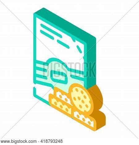 Pills Detergent Isometric Icon Vector. Pills Detergent Sign. Isolated Symbol Illustration