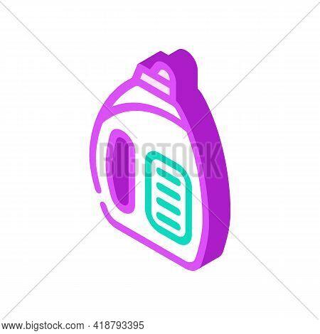 Liquid Detergent Isometric Icon Vector. Liquid Detergent Sign. Isolated Symbol Illustration