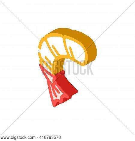 Peeled Shrimp Isometric Icon Vector. Peeled Shrimp Sign. Isolated Symbol Illustration
