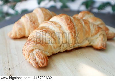 Croissant , French Croissant Or French Bread For Serve