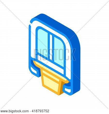 Maglev Modern Train Railway Isometric Icon Vector. Maglev Modern Train Railway Sign. Isolated Symbol