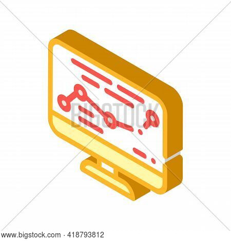 Direction Map Railway Isometric Icon Vector. Direction Map Railway Sign. Isolated Symbol Illustratio