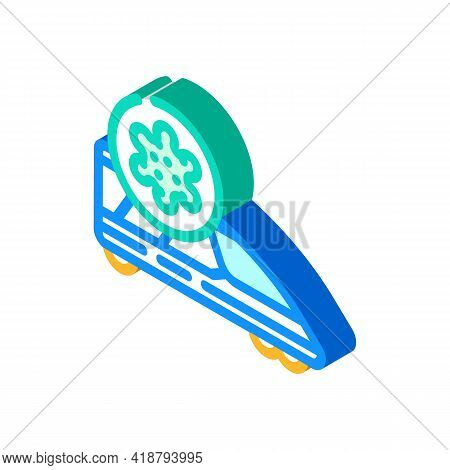 Infected Train Isometric Icon Vector. Infected Train Sign. Isolated Symbol Illustration