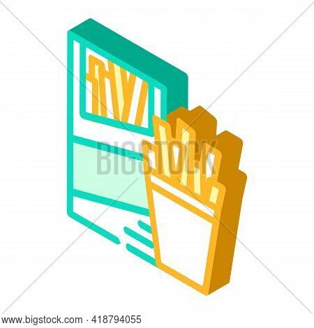 Straws Snack Isometric Icon Vector. Straws Snack Sign. Isolated Symbol Illustration
