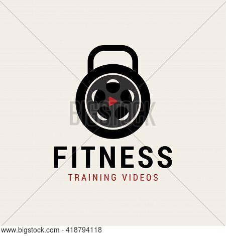 Fitness Films Studio Movie Video Cinema Cinematography Film Production Logo Design Vector Icon Illus