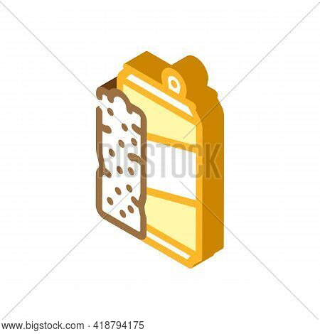 Bars Snack And Drink Container Isometric Icon Vector. Bars Snack And Drink Container Sign. Isolated