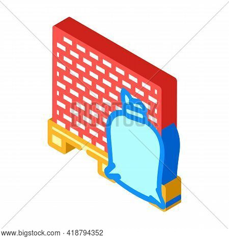 Building Materials Wholesale Isometric Icon Vector. Building Materials Wholesale Sign. Isolated Symb