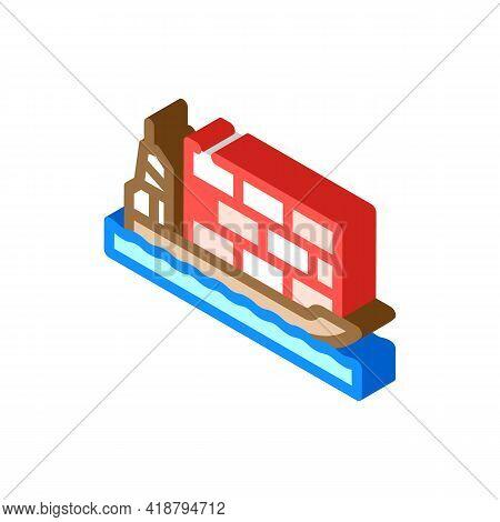 Sea Transportation Wholesale Isometric Icon Vector. Sea Transportation Wholesale Sign. Isolated Symb