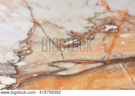 Detail Of A Translucent Slice Of Natural Stone Agate. Natural Concentric Patterns And Textures Of Mi