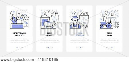 Farming - Modern Line Design Style Web Banners