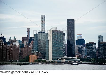 Cityscape Of The Midtown Of Manhattan From East River, New York City