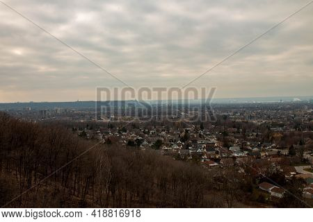 Hamilton Ontario City Skyline Niagara Escarpment Bruce Trail