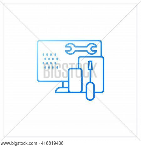 Coding Toolkit Gradient Icon.software Development Tools.instruments For Creating Programming Code.co