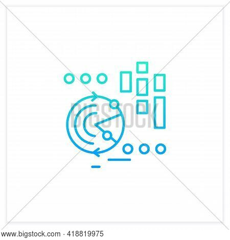 Continuously Data Update Gradient Icon. Continuous Process Of Updating Users Data, Information. Info