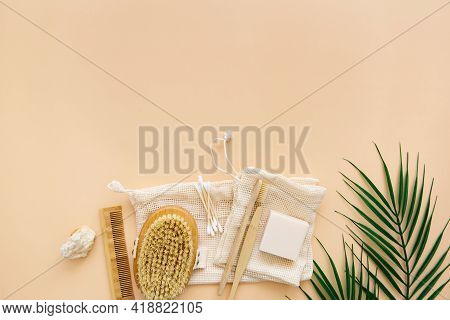 Eco-friendly Bathroom Accessories: Bamboo Toothbrushes, Bamboo Ear Sticks, Organic Soap, Reusable Co