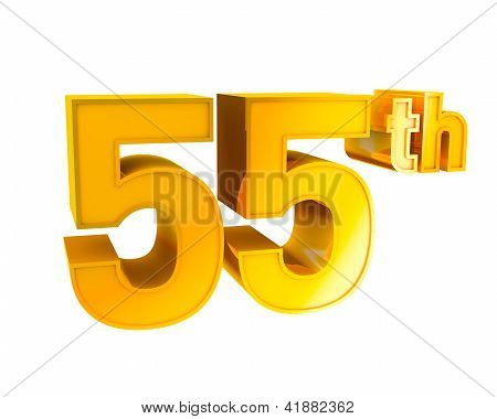 Gold Alphabet Anniversary 55