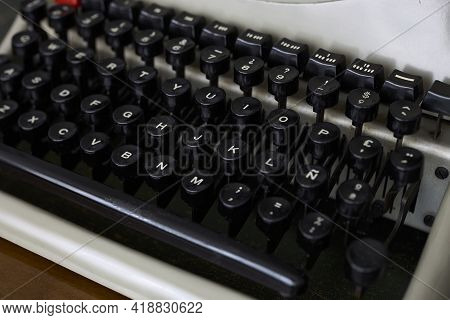 Keyboard Of An Old Typewriter, From The Sixties